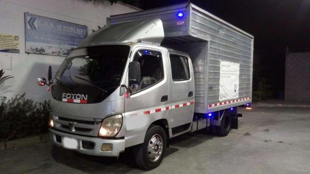Se vende Camión foton doble cabina furgón en aluminio con freno de aire turbo diesel y freno de ahogo modelo 2013