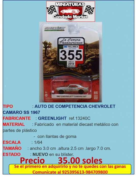 AUTO DE COMPETENCIA CHEVROLET CAMARO SS 1967