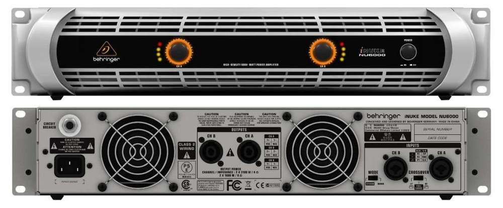Amplificador Behringer Inuke Nu6000