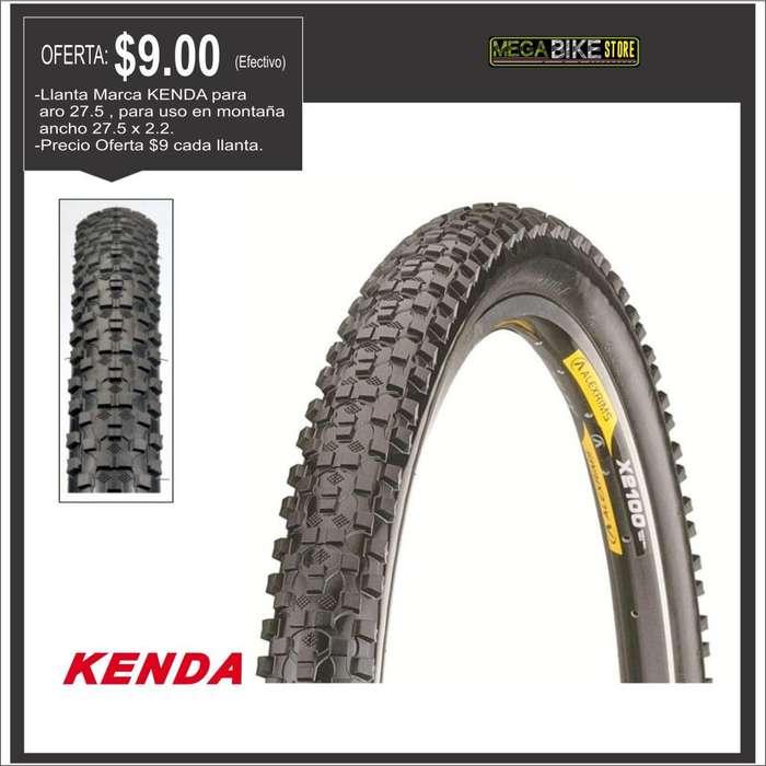 OFERTA ¡ Llanta Kenda aro rin 27.5 x 2.2 para bicicleta , labrado para uso en montaña