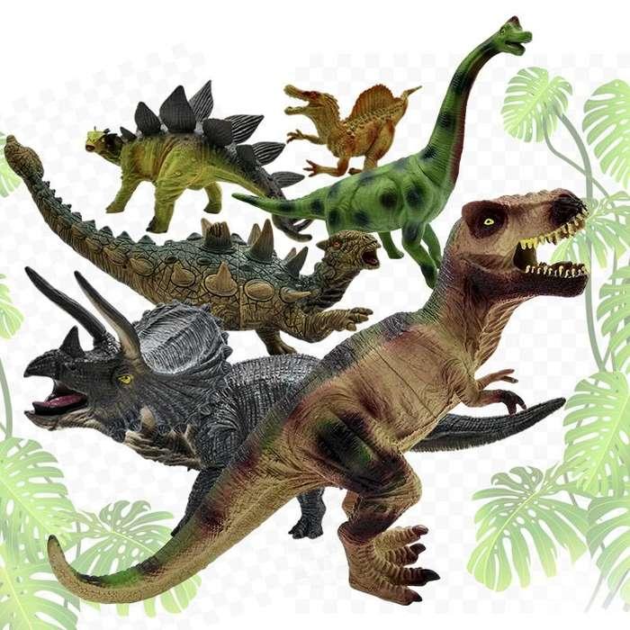 Figuras Dinosaurios Grandes X6 Juguete Plástico Para Niños RF 6I13