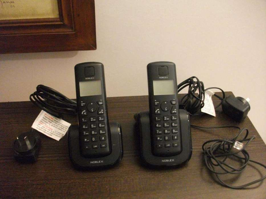 Teléfono Inalámbrico doble base, Noblex