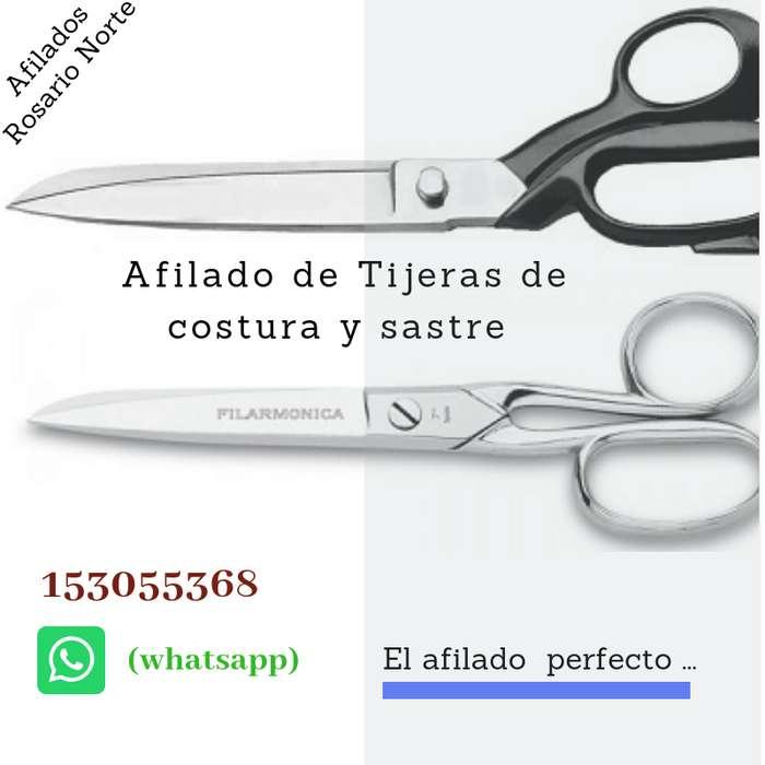 Afilado de tijeras de costura en Rosario