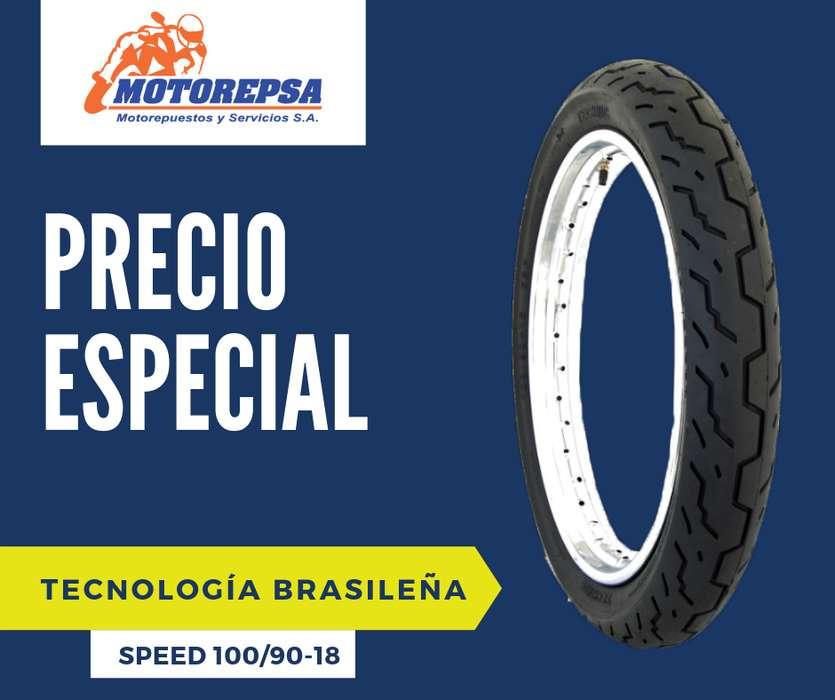 Llanta TECHNIC Speed 100/9018 para Moto HONDA CG 125, CBX 150 200 YAMAHA YBR