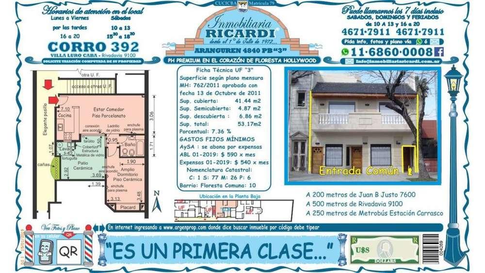 Aranguren (ancha) 4800 - UD 133.900 - Tipo casa PH en Venta