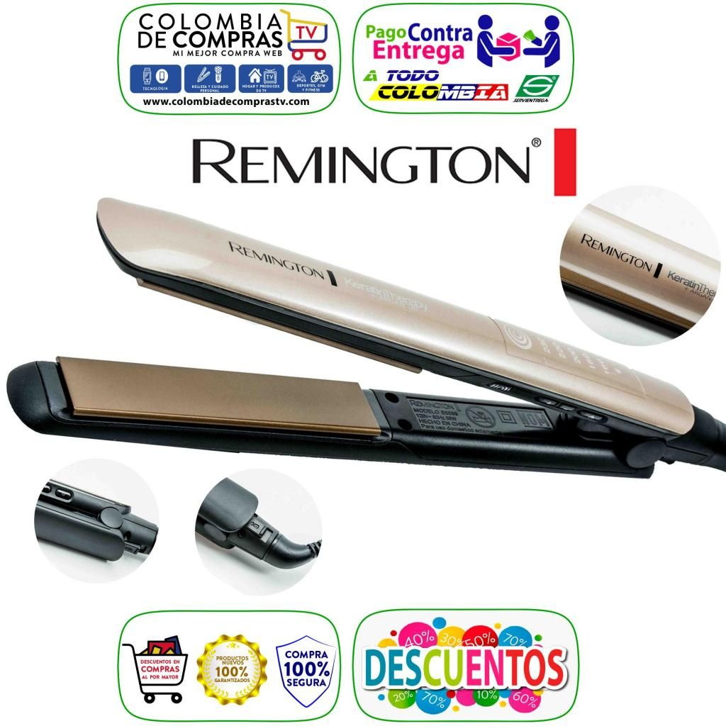 Plancha Remington Keratina Y Argan Digital 450º Original Nuevas, Originales, Garantizadas