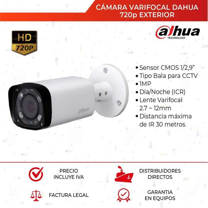 Camara Varifocal Dahua 720p. Cctv. <strong>video</strong> Vigilancia. 40 Mtrs. Quito. Guayaquil. <strong>video</strong> Vigilancia