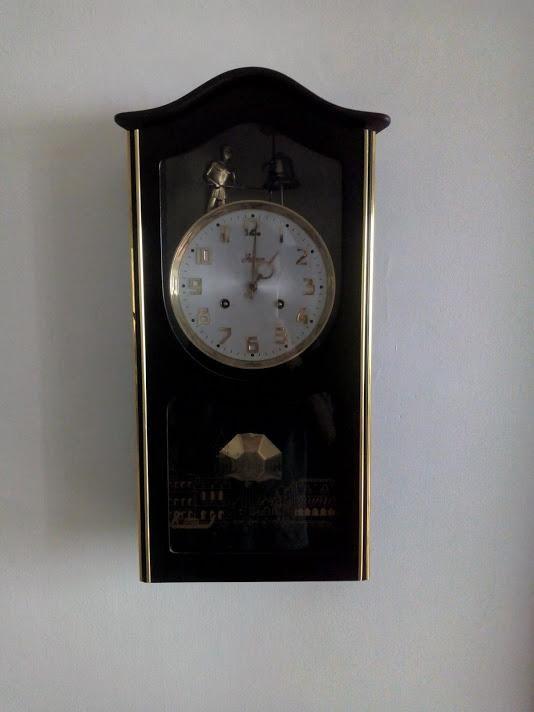 Reloj De Pared Jawaco De Cuerda Original Campanero Antiguo