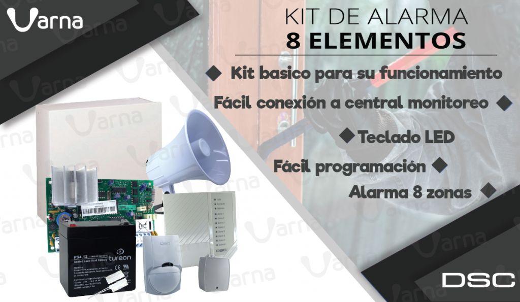 KIT ALARMA DE SEGURIDAD MARCA DSC 585 - CASA/OFICINA