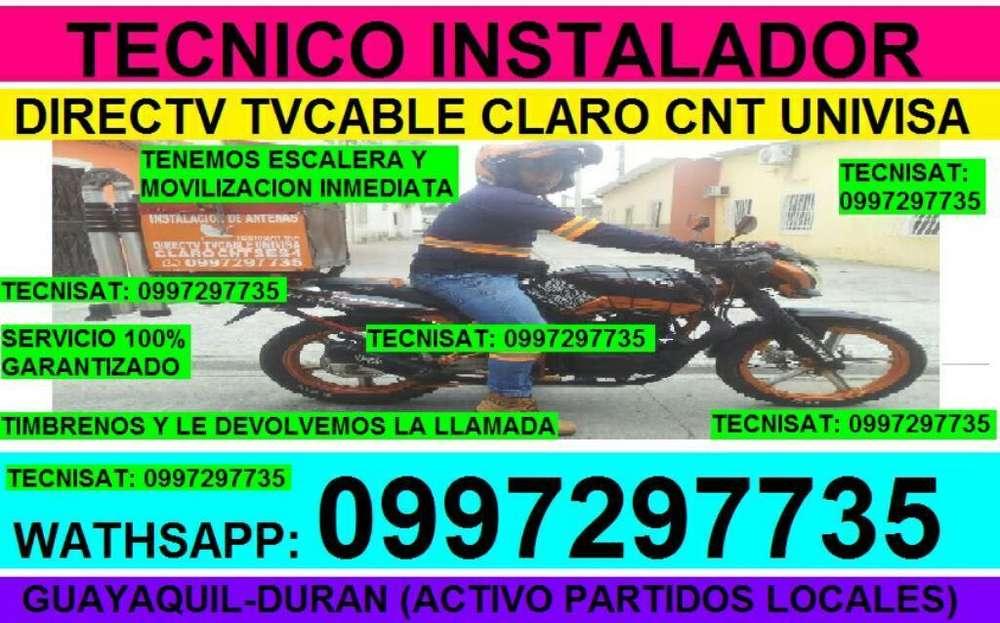 TECNICOS ANTENAS SATELITAL DIRECTV, AMAZONAS TVCABLE INSTALADOR.