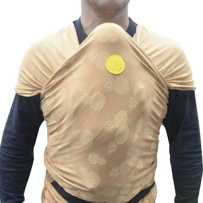 Fular para bebe amarillo quemado con piñas REF 2298