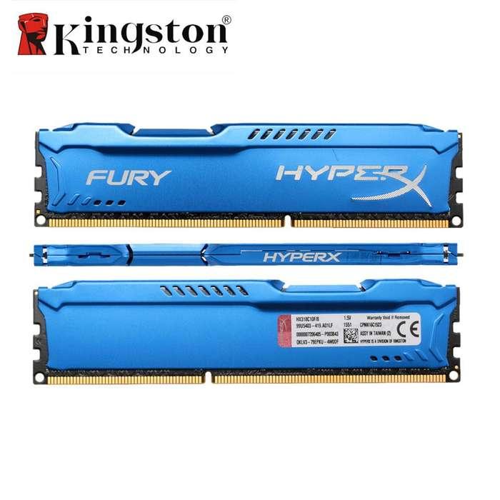 Mem. Ram Hyperx Fury Ddr3 8gb/1866 ( Hx318c10f/4 ) Azul