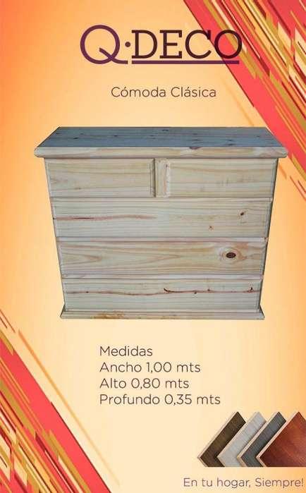 COMODA DE PINO 1.00 X 0.80 MTS