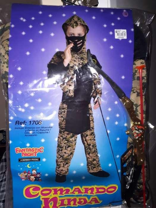 Disfraz de Ninja Usado T: 16 Buen Estad