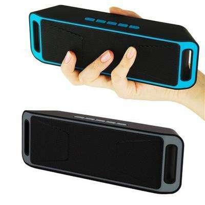 Parlante Bluetooth Mini Altavoz Portatil MSD USB 3.5m Gris