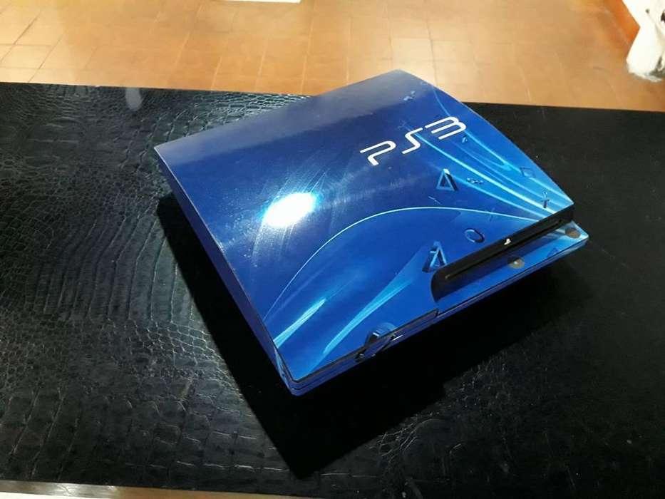 Skin PS3 Slim Blue Edition