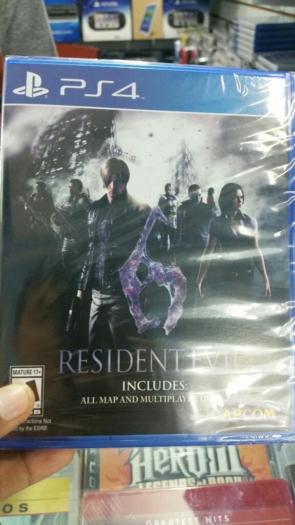 Resident Evil 6 Ps4 Nuevo Sellado Stock