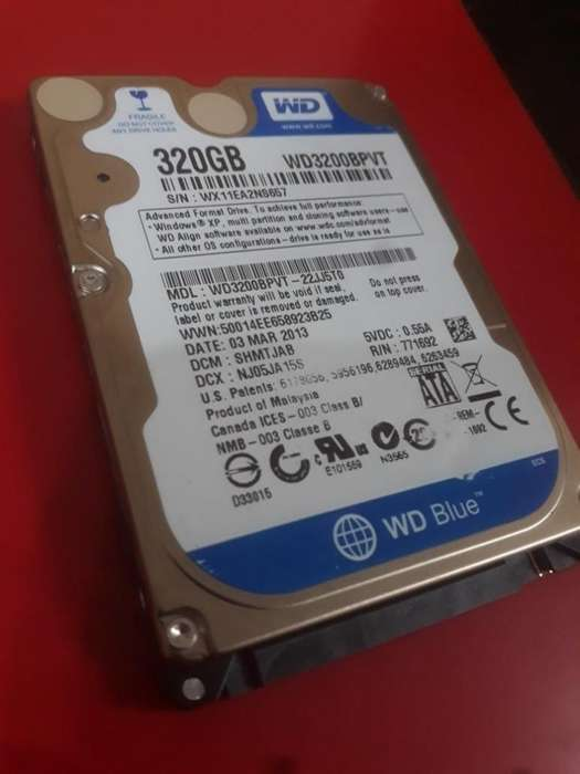 VENDO DISCO DURO 320 gb western digital wd3200 NEGOCIABLE