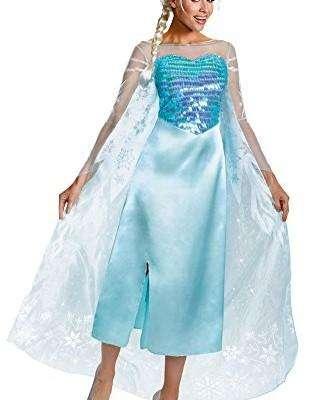 DISFRAZ Premium Original de DISNEY Elsa Frozen para Mujer Adulta Talla M, Importado ¡¡¡NUEVO en SÚPER OFERTA!!!