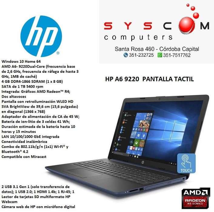 notebook hp a6. pantalla tactil