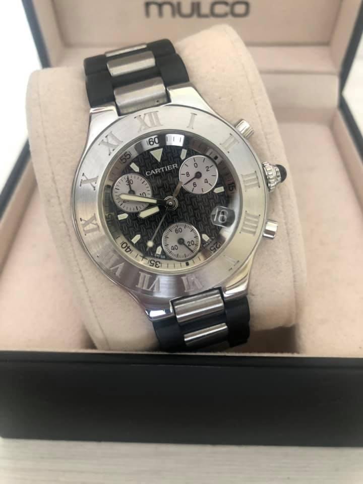 4c9764a93855 Reloj Cartier Chronoscaph 21 para caballero original - Cúcuta
