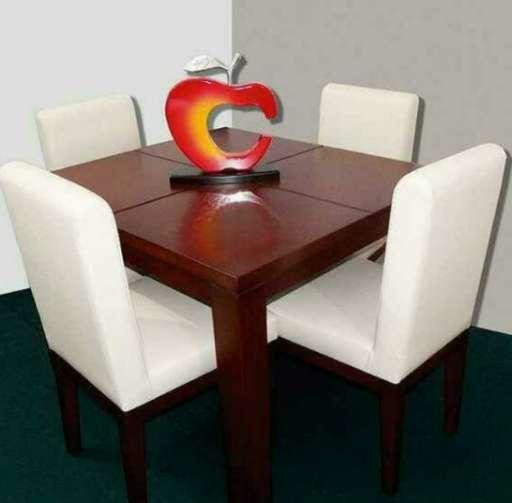 comedor de 4 puestos con mesa de madera