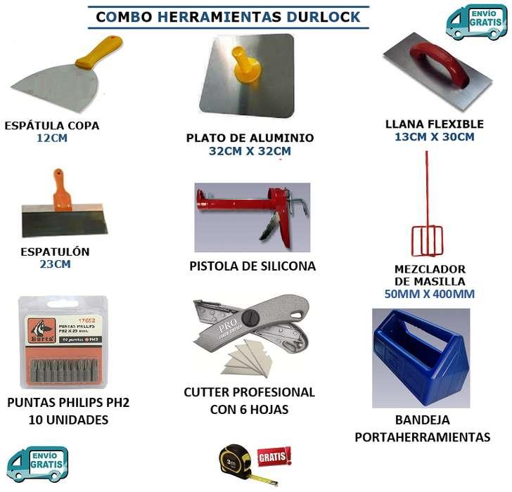 Combo Kit de 10 Herramientas Durlock, Construcción en Seco