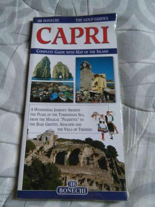 Guia Turistica Isla de Capri Italia en Ingles con mapa desplegable 2002 Bonechi