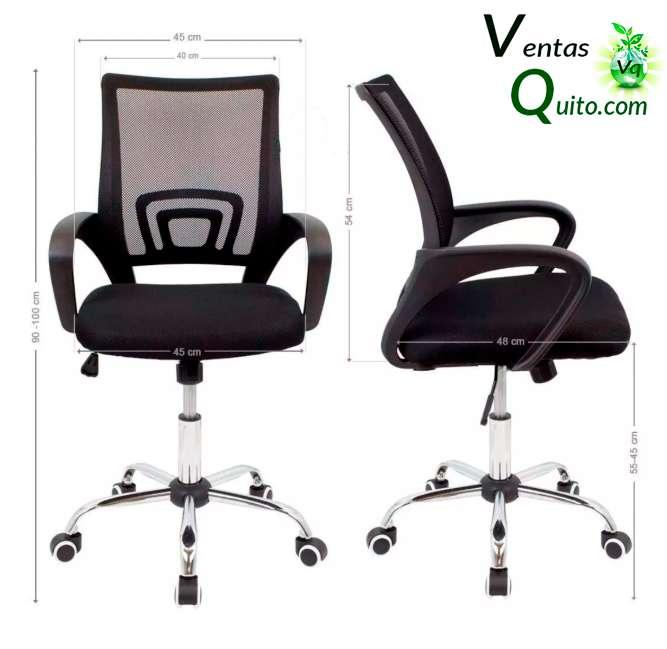Silla de oficina ergonomica, reclinable y con altura regulable, nuevas color negro, rojo, verde, anaranjado