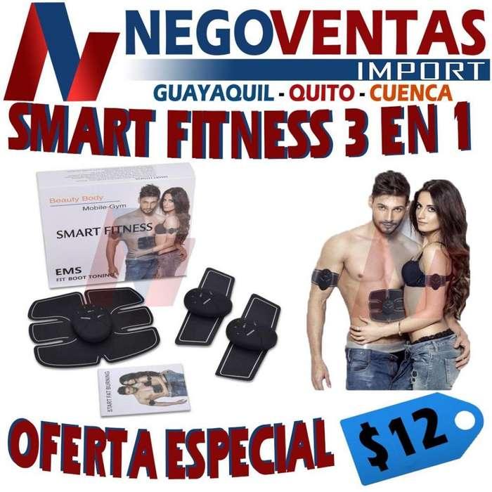 SMART FITNESS 3 EN 1 , PARCHES DE ABDOMEN Y BRAZOS