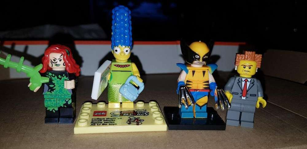 Simpson X Men Y Dc Comics Tipo Lego