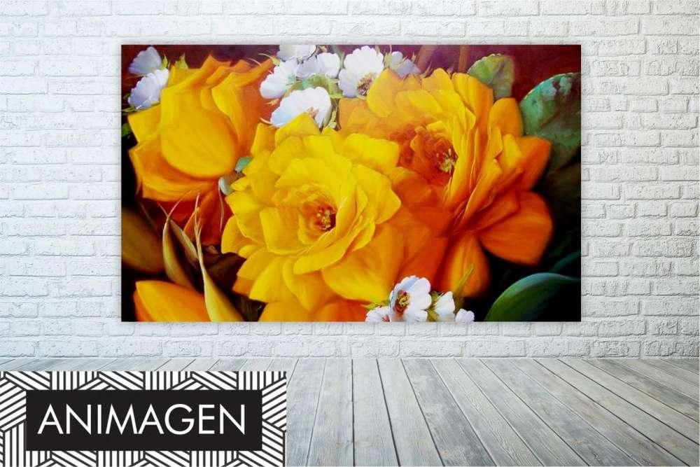 Cuadro de flores amarillas 9762