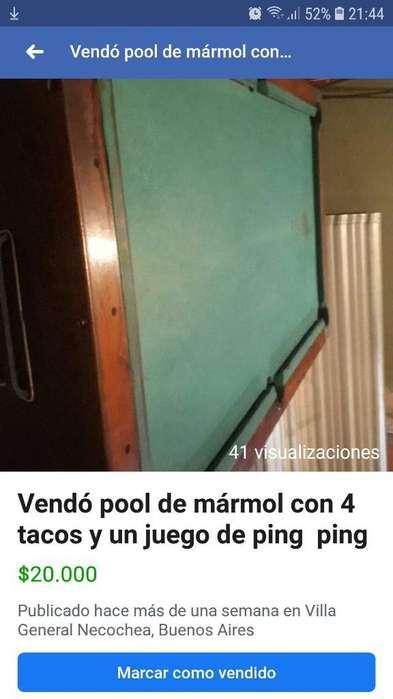 Vendó Pool de Mármol Y Un Juego de Ping
