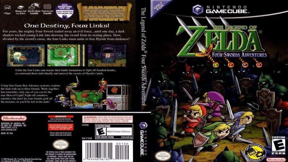 Zelda Four Swords gamecube nuevo