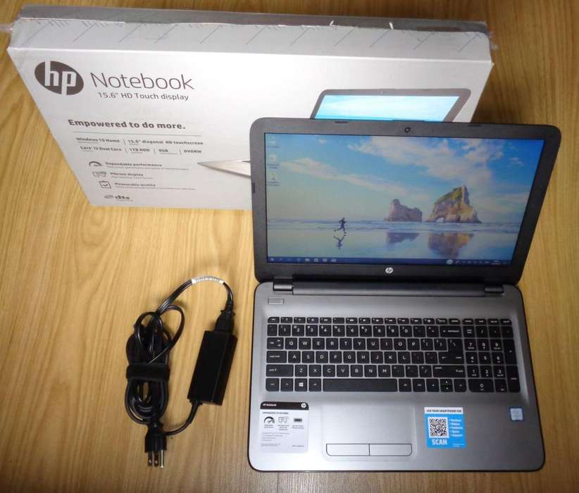 Notebook HP Intel i3 6th 2.3 GHz, 1 TB, DDR4 8 GB, DVD, touch, 15.6, excelente