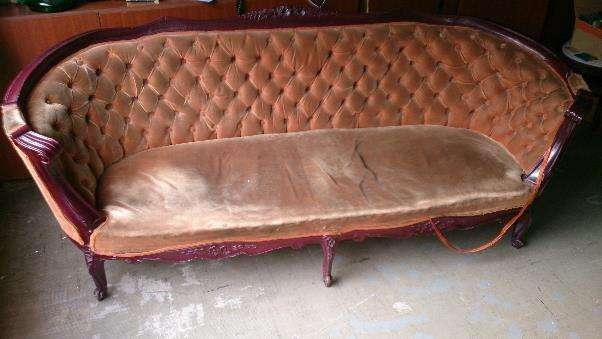 Antiguedad Sofa estilo Luis XV