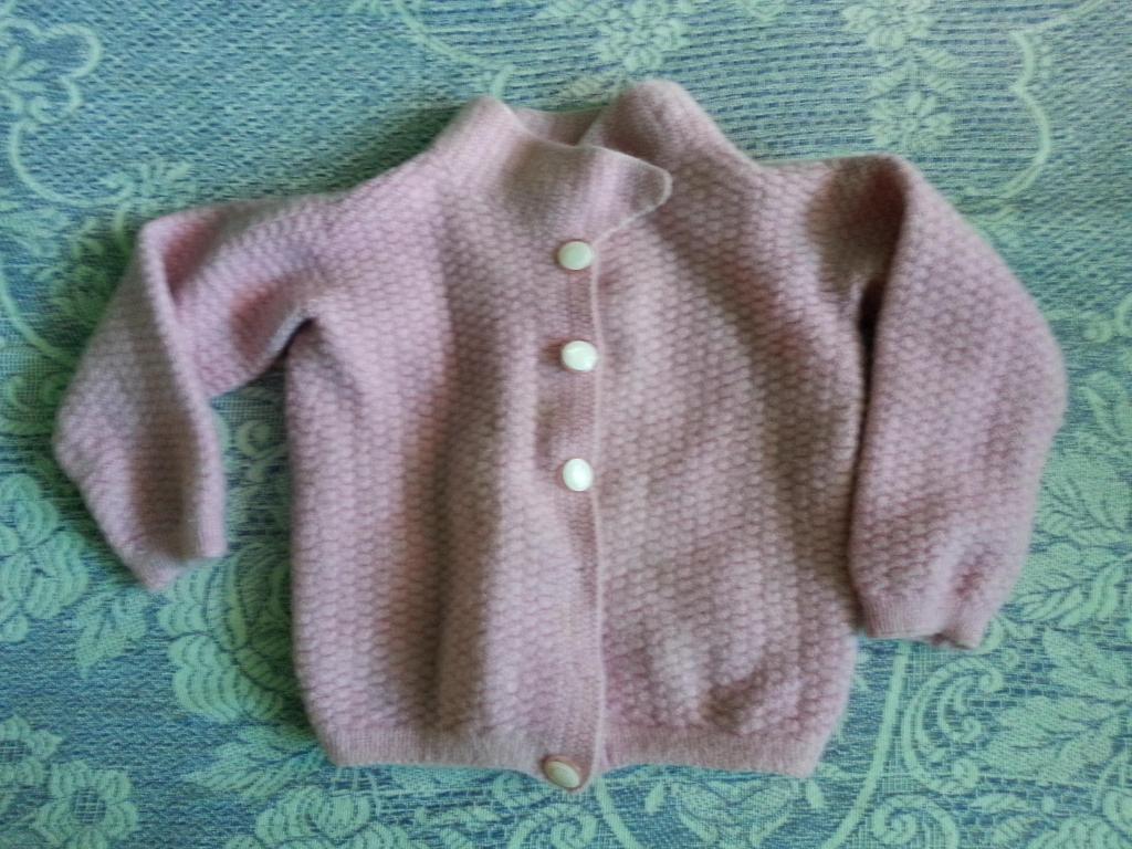 Chompa Rosada Tejido A Crochet Para Bebe Lima