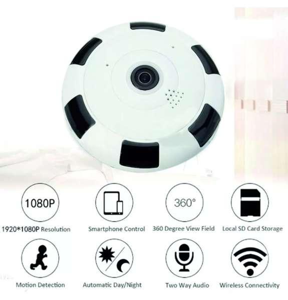 Cámara Ip Wifi V380 Ojo De Pez 1080p Inalambrica 2.0 Mpx