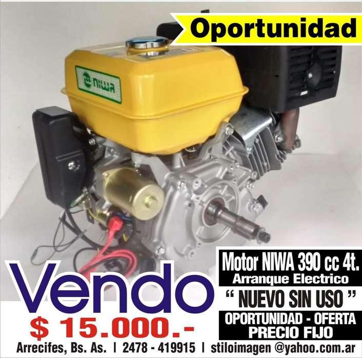Motor NIWA 13 HP-390 cc 4T - Naftero - Arranque Elect. y Manual
