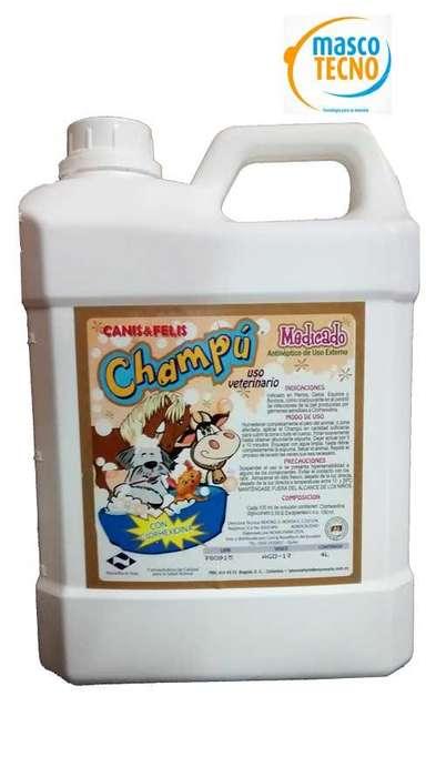 Champu para <strong>perros</strong> y gatos medicado por 4 litros garrafa