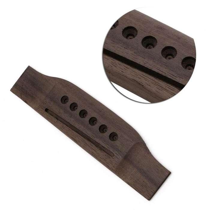 Puente Rosewood para Pines Cuerdas Metal Guitarra Acustica Nuevo