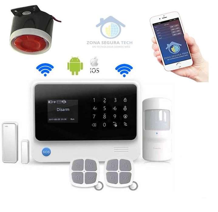 Kit de Alarma Inalambrica para casas locales WIFI GSM GPRS G90B PLUS soporta domotica