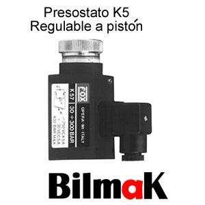 Presostato K5 Regulable A Piston