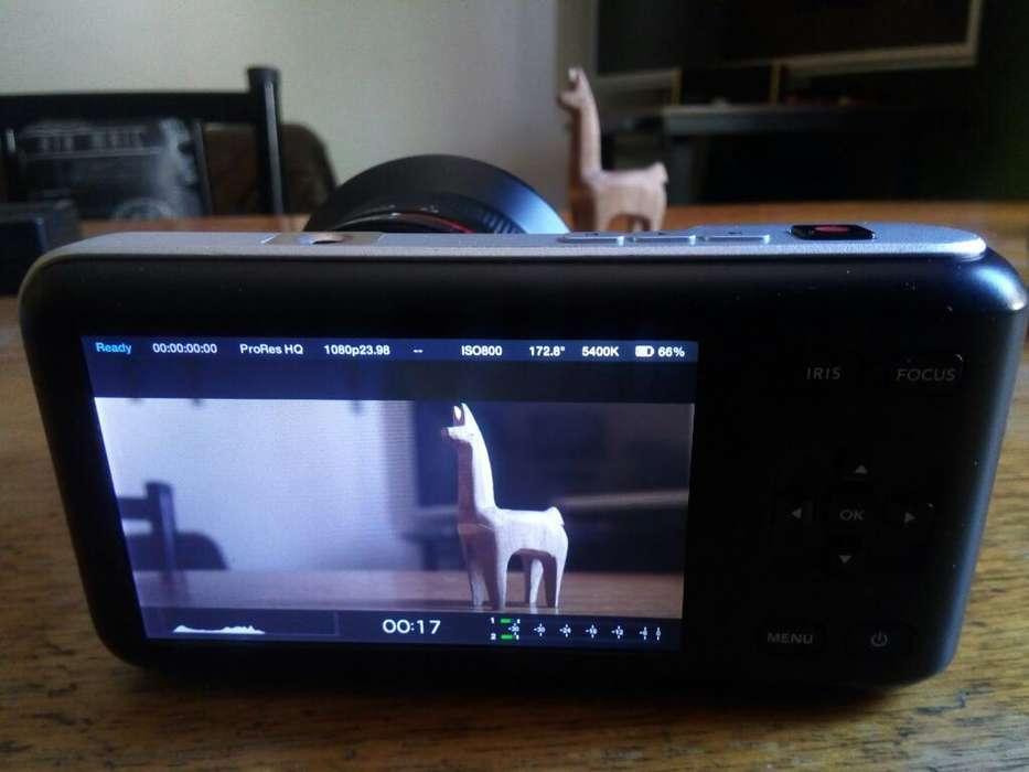 Blackmagic Pocket con Lente Samyang 12mm