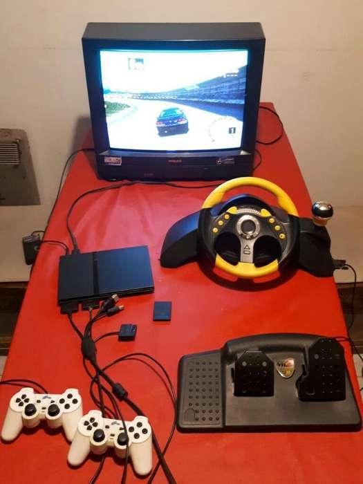 Playstation2 Chipeada, Tv21 Y Accesorios