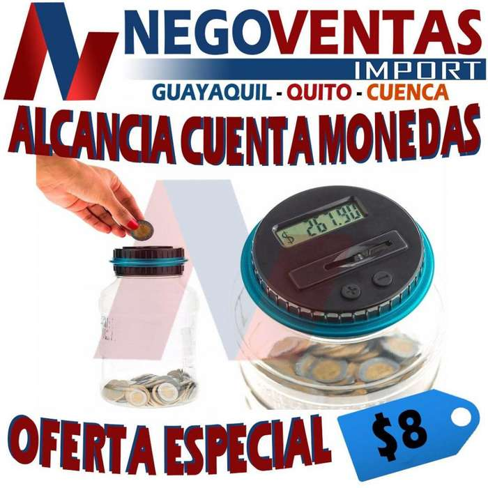 ALCANCIA DIGITAL CONTADOR DE MONEDAS PRECIO PROMOCION