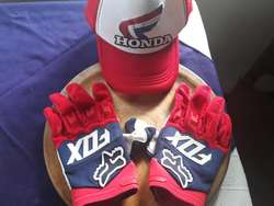 Guantes Y Cachucha Honda Fox