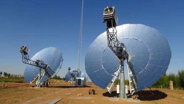 '' Concentradores de Plato Solar Hibrido con motores Stirling, sistema de energía integrado, de 10k hasta 10MW '',