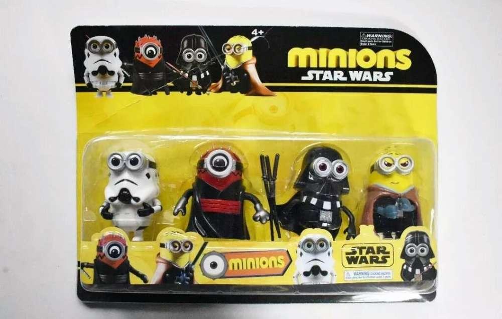 Juguetes para Niños: Set Minions X 4