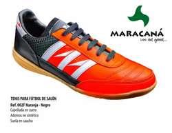 Zapatillas Micro fútbol en cuero MARACANA 100% original y zuela goma